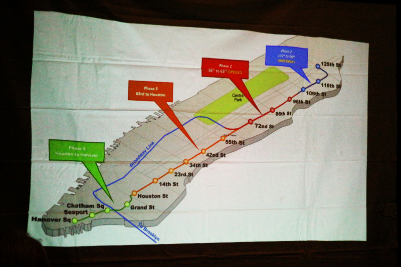 Mta Map Illustration Showing The Four Phases Of Subway Construction